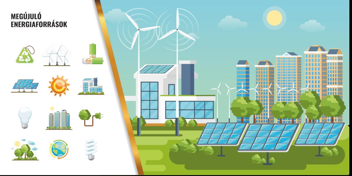 Megújuló energiaforrások (Illusztráció: Freepik)