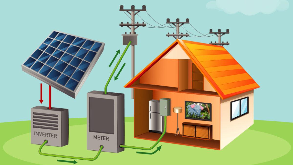 Hálózatra tápláló napelemes rendszer (Fotó: Freepik)