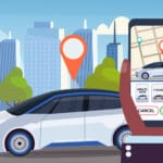 Carsharing mobilos foglalás (Illusztráció: Freepik)