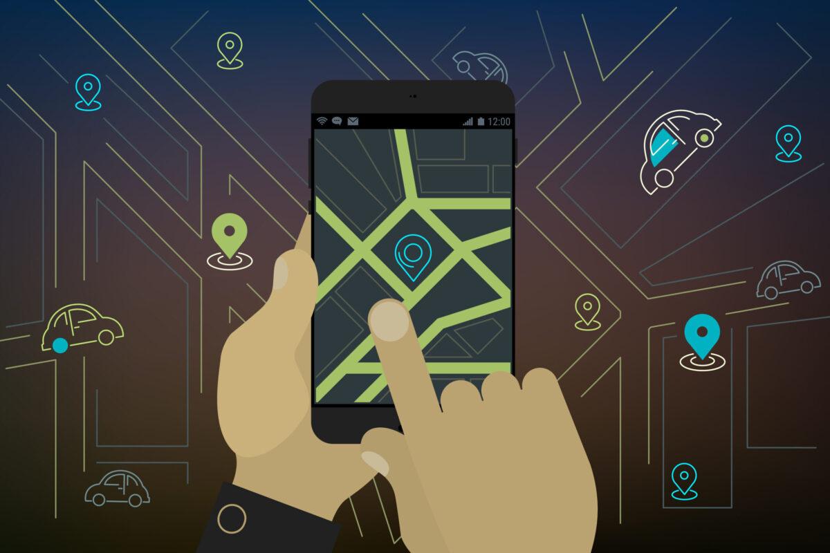 Mobil alkalmazás közösségi autó (carsharing) foglaláshoz (Illusztráció: Freepik)